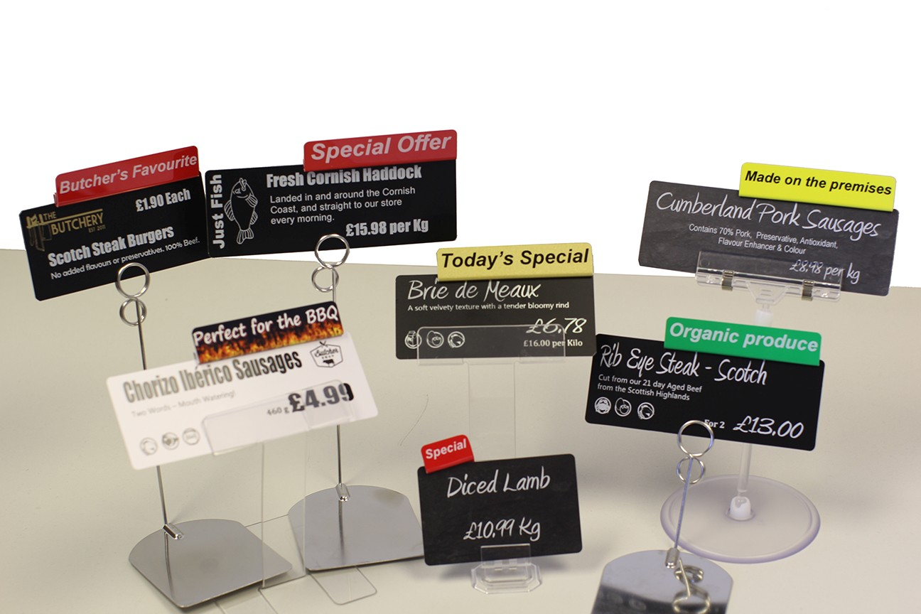 Display Tickets, Stands & Accessories