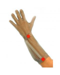 Chainmail Gloves with Forearm - Hook Fastener