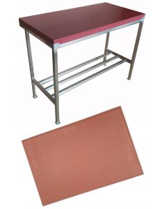 """2"""" Red Polytop & Polytop Tables 6ft x 2ft"""